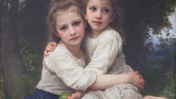 William-Adolphe Bouguereau (French, 1825-1905), Two Sisters (detail), 1901 Wriston Art Center Galleries, Lawrence University