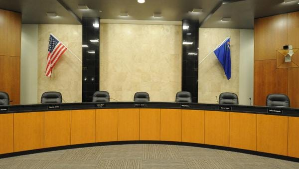 Reno City Council chambers.