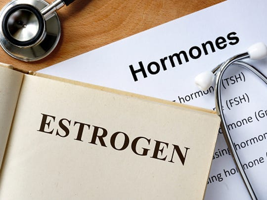 The main female sex hormones, estrogen and progesterone,