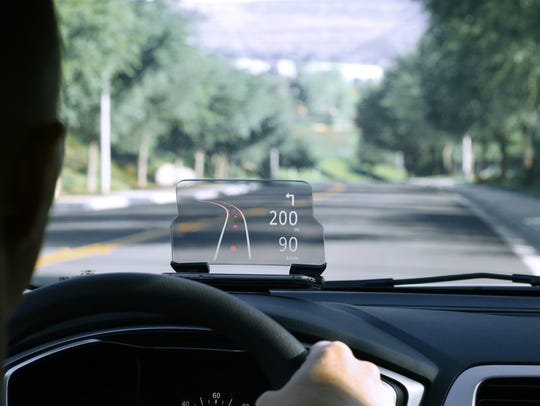 A head-up display or heads-up display (also known as a HUD) is any transparent display that presents data without requiring users to look away from their usual viewpoints.