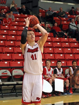 Drury's Drew Moore had a double-double in a losing effort Saturday at Wisconsin-Parkside.