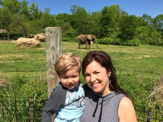 Leigh Cappillino with son Andy.