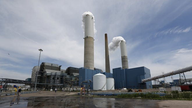 DTE Energy's Monroe plant is the first coal-fired power plant in Michigan to use scrubbers, which reduce sulfur dioxide emissions by about 97%, according to the utility company.