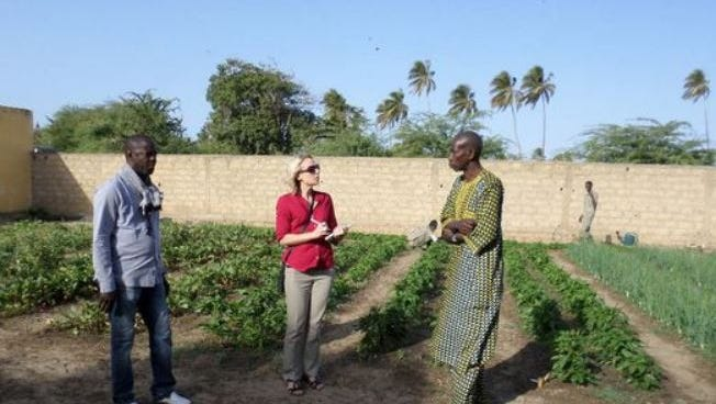 Anna Snider gives advice to improve the curriculum at a vocational horticulture school on a recent trip to Senegal.