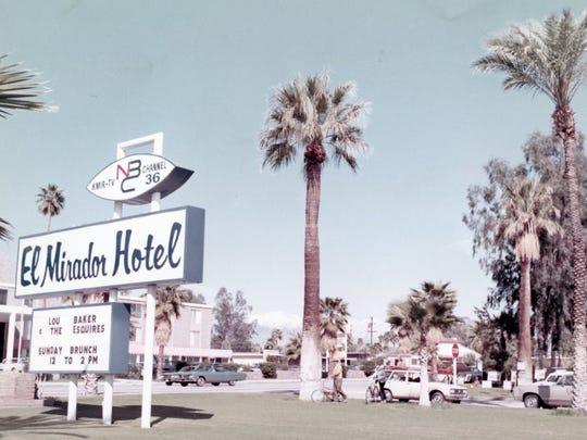 El Mirador Hotel marque KMIR-NBC, circa 1972.