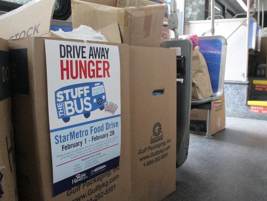 The city collected more than 3,0000 pounds of perishable