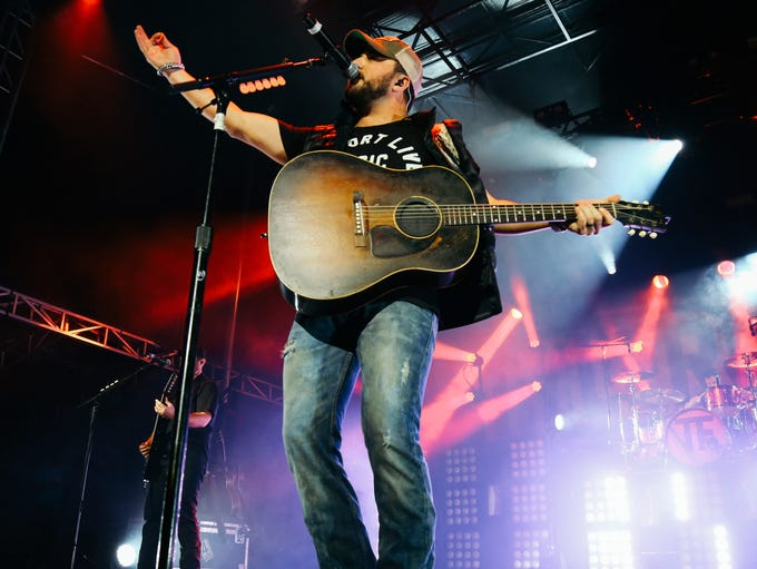 Tyler Farr performs at Doak After Dark on Satuday,