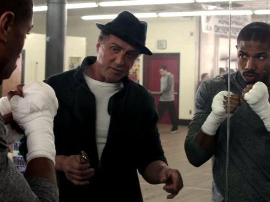 "Michael B. Jordan and Sylvester Stallone star in ""Creed."""