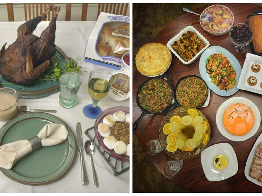 For overhead shots of food, carefully arrange plates