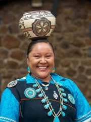 Corliss Edaakie-Bobelu is a member of the Zuni Olla