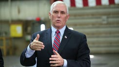Vice President Mike Pence speaks at Weldall Manufacturing