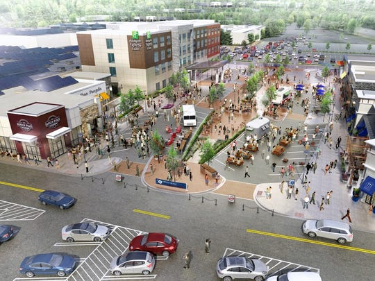 Future plans for the Arnot Mall include more open air