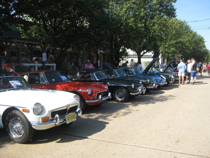 """Vintage automobiles at """"Brits on the Beach."""""""