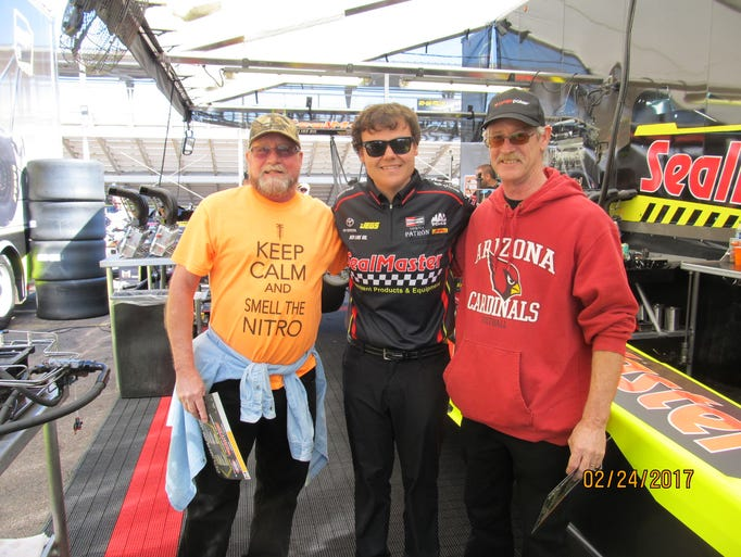 Paul was the lucky winner for Insider's NHRA Pit Crew