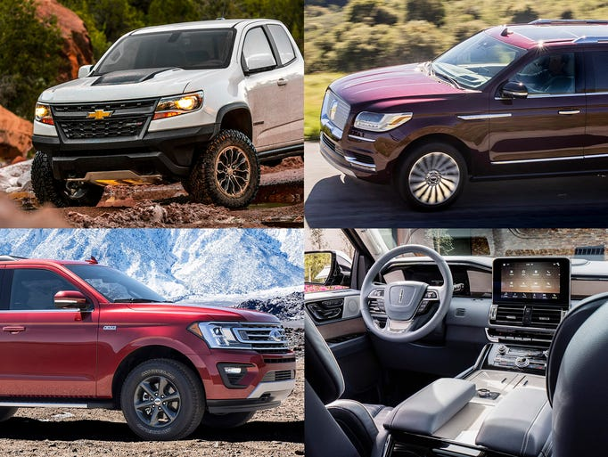 Clockwise from upper left, 2017 Chevrolet Colorado