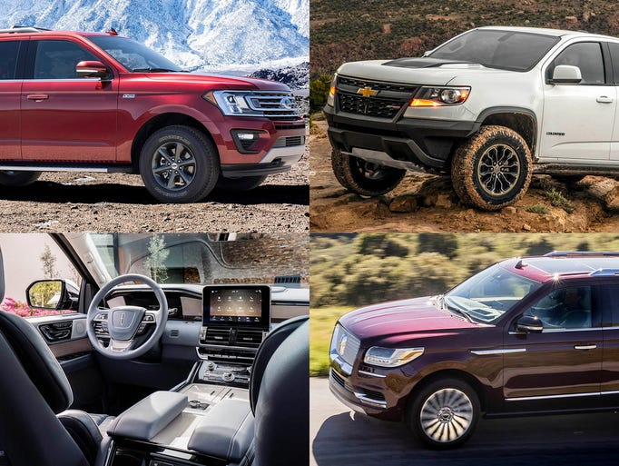 Clockwise from upper left, 2018 Ford Expedition, 2018