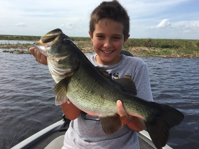 Ethan Shellen, 8, of Okeechobee caught and released