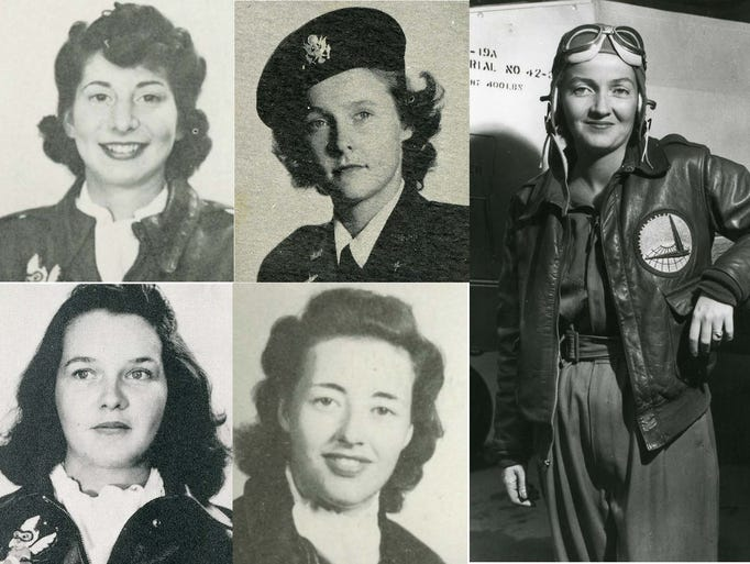 Pictures of the Michigan women who signed up to fly