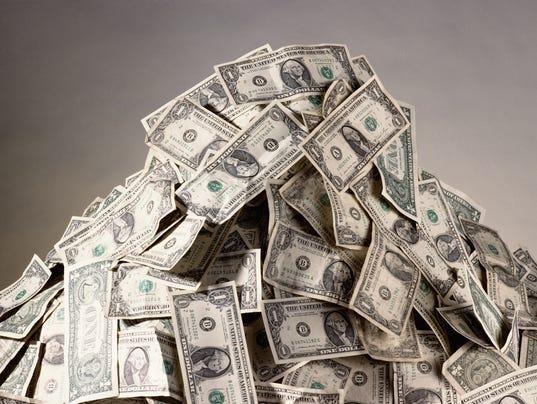 pile of money - college
