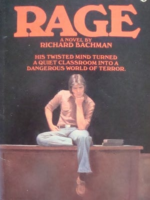One very sought-after book is 'Rage,' which Stephen King published under the name Richard Bachman.