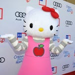 BEVERLY HILLS, CA - JUNE 09:  Hello Kitty arrives at the 1st Annual Children Mending Hearts Style Sunday on June 9, 2013 in Beverly Hills, California.  (Photo by John Sciulli/Getty Images for Children Mending Hearts)