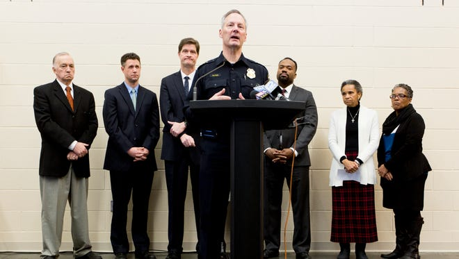Milwaukee Police Chief Edward Flynn announces the department has received a $740,000 three-year grant through the U.S. Department of Justice for crime reduction strategies in the Amani neighborhood.