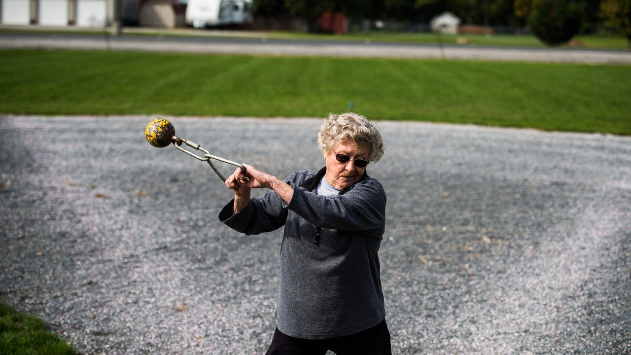 New Oxford native Gloria Krug still competes in track and field throwing events at the age of 85. She discusses what motivates her to continue.