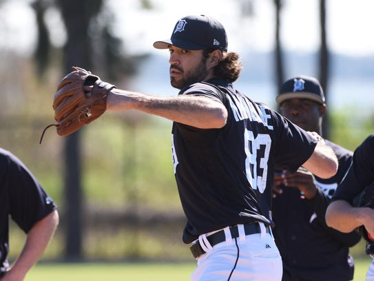 Tigers relief prospect Adam Ravenelle has struggled