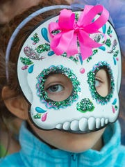 Participants are welcome to paint their faces with calaveras for the Concordia Cemetery Dia de los Muertos Festival on Saturday.