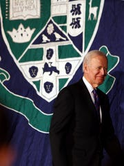 Former Vice President Joe Biden spoke to a sold-out audience of 2,800 people at Drew University's  Simon Forum and Athletic Center in Madison. March 28, 2018. Madison, NJ.