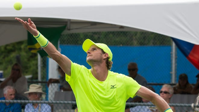Tallahassee - April 29: BLAZ ROLA (SLO) d. RAMKUMAR RAMANATHAN (IND), 6-2, 6-7(6), 7-5, in the singles final at the Tallahassee Tennis Challenger.