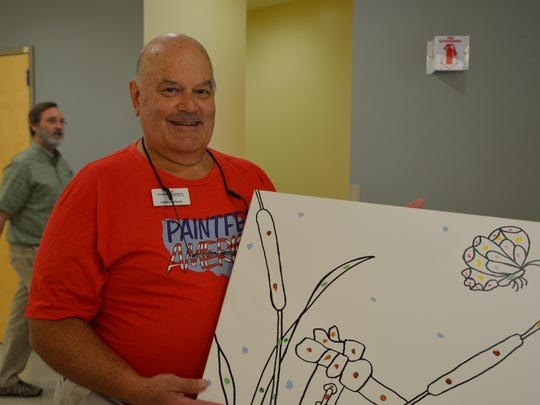 Lamar Glover of the Foundation for Hospital Art.