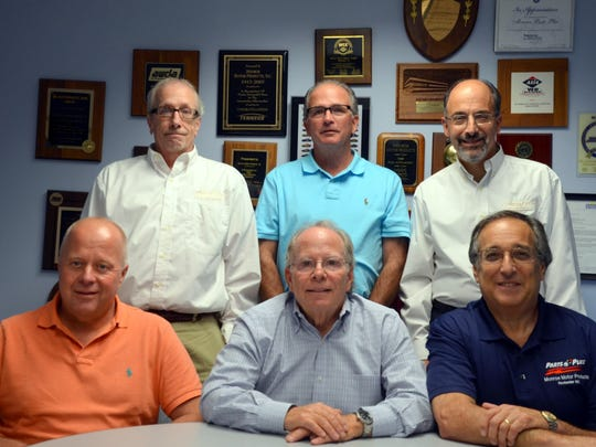 The senior management team at Monroe Motor Products. Top row includes Larry Raymo, left, Stephen Reidmiller and Bill Lattierre. Front row includes Michael Lohrberg, left, Michael Gordon, Jan Goldberg.