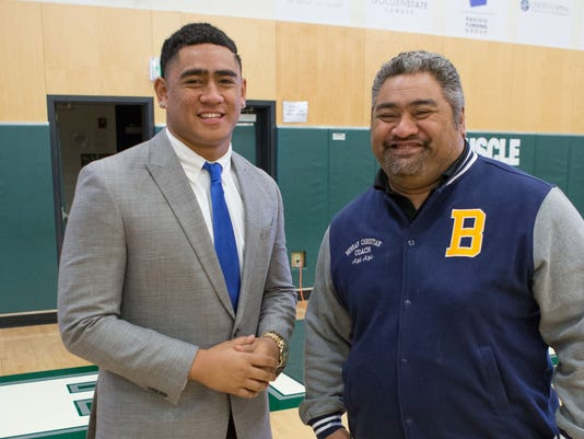High School Football: National Signing Day-Devin Asiasi & Boss Tagaloa