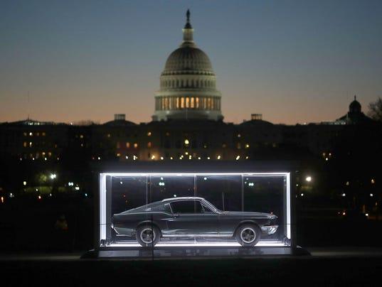 "Famous ""Bullitt"" Mustang On Display On National Mall In D.C."