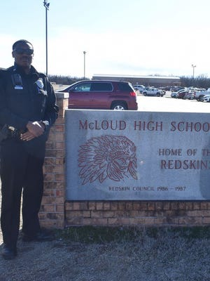 Marcus Burris has been at McLoud Public Schools for about five months and has been in law enforcement for since 2016.