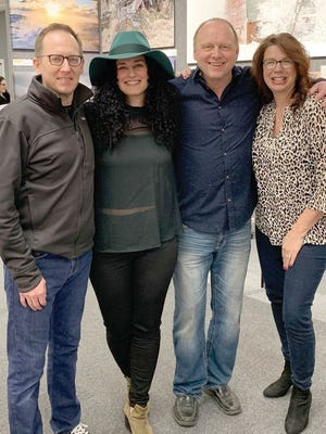 Andy Hall, third from left, is pictured at a pre-pandemic event at Sweetlight Gallery with, left to right, Trey Everett, Annie Fitzgerald and Terri Hegg