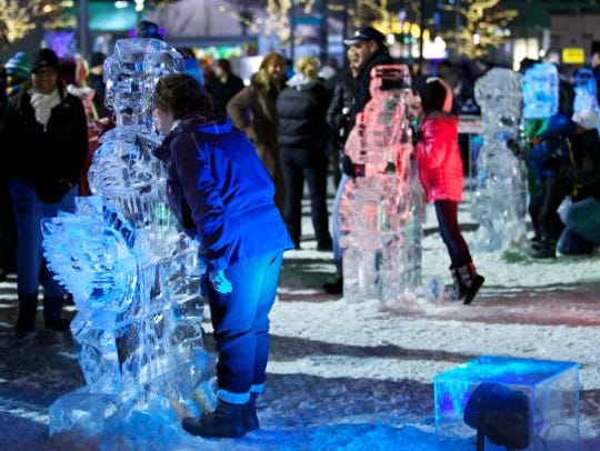 The festival's ice creations face the threat of warmer