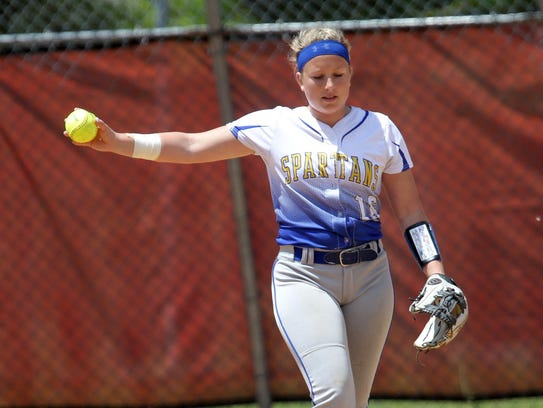 Emily Hess takes a moment inside the circle during