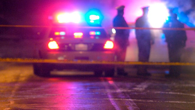 One person was hospitalized after a shooting near the Jack's Carry Out in Evanston Wednesday night.