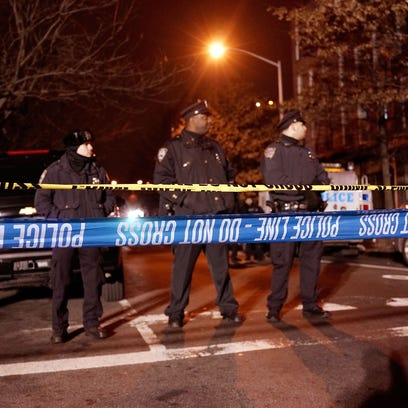 NEW YORK, NY - DECEMBER 20: The scene at a shooting