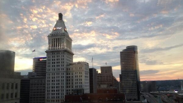 The few clouds lingering over Greater Cincinnati Sunday morning paved the way for a beautiful sunrise.
