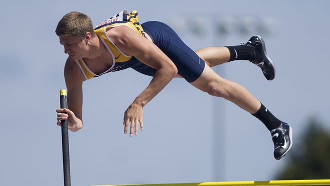 Wausau West's John Cihlar finished 11th in the WIAA Division 1 boys pole vault during the state track meet last year.