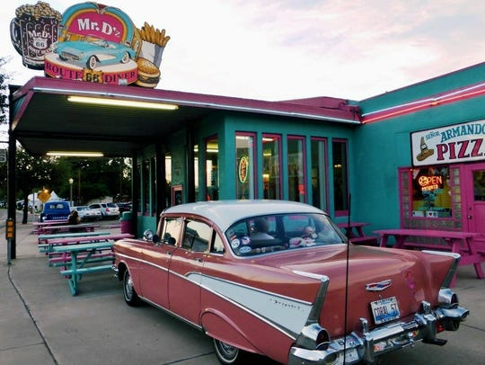 The root beer is homemade at Mr. D'z Route 66 Diner