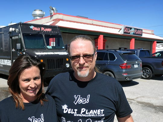 Eric and Rebecca Rutledge, owners of Deli Planet, are