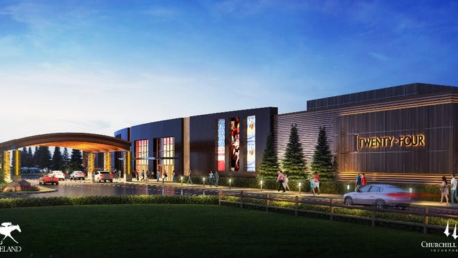 Keeneland and Churchill Downs are licensed for a horse racing facility in Oak Grove, Ky. This is the initial rendering.