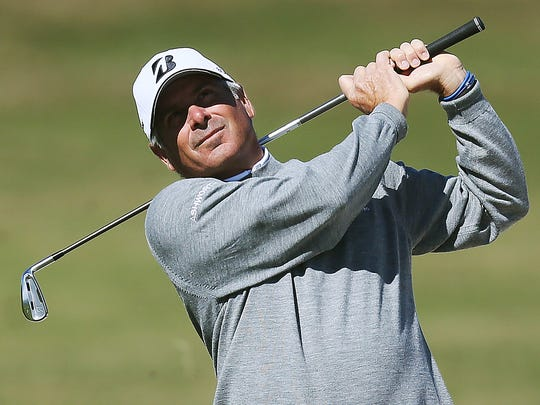 Fred Couples plays in the Chubb Classic pro-amateur Thursday at Twin Eagles in Naples.