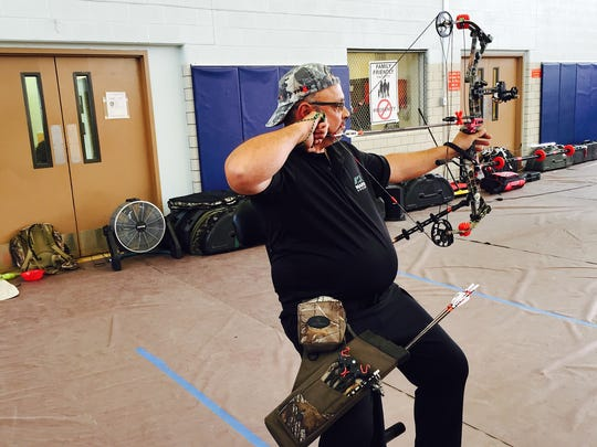 Retired Staff Sgt. Samuel Pons, representing Fort Hood, is one of the wounded warriors who is competing at this week's Army Trials.