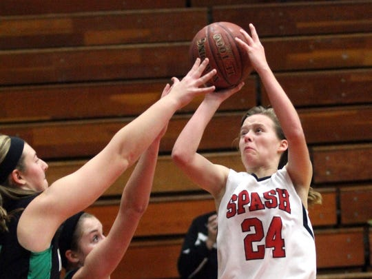 SPASH sophomore Maggie Negaard was named the WVC girls basketball player of the year.