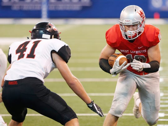 Rensselaer linebacker Luke Standish had 111 tackles as a sophomore last season.
